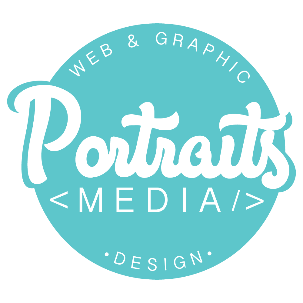 Portraits Media website and graphic designers footer